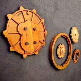 Decoración industrial en madera natural